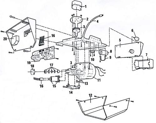 Sears 139 53660srt1 Garage Door Opener Parts