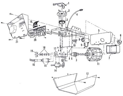 Garage Door Opener Parts Diagram On Sears Garage Door Opener Motor