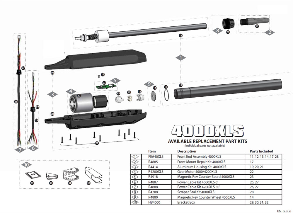 GTO 4000XLS Replacement Parts on